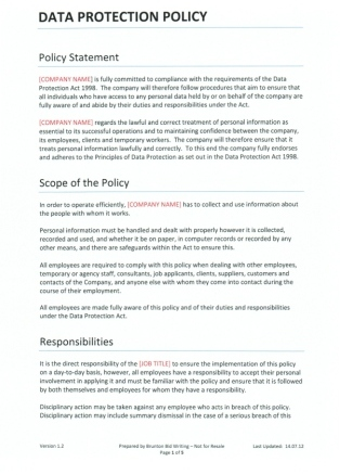 data privacy policy template - privacy and personal data personal data protection act
