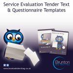 Service Evaluation Tender Text & Questionnaire Templates