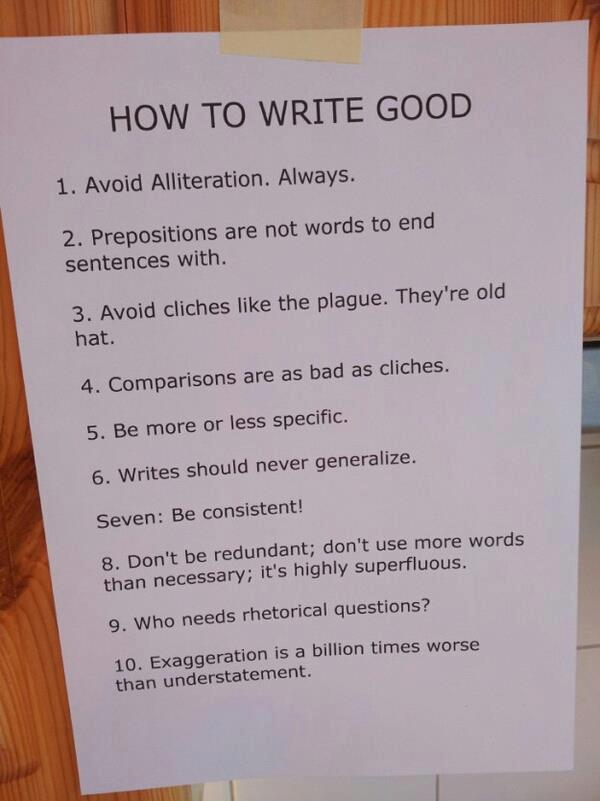 How to Write Good!