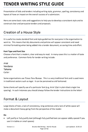 Security, clarity and the style guide