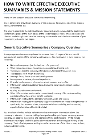 gainesboro machine executive summary