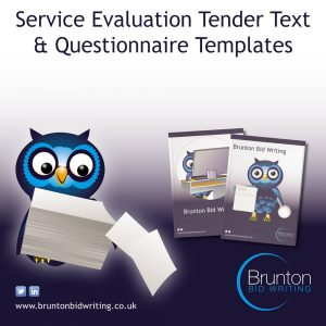 Service Evaluation Tender Text & Questionnaire Templates